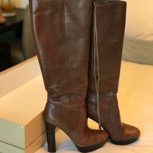 Michael Kors leather knee high boots